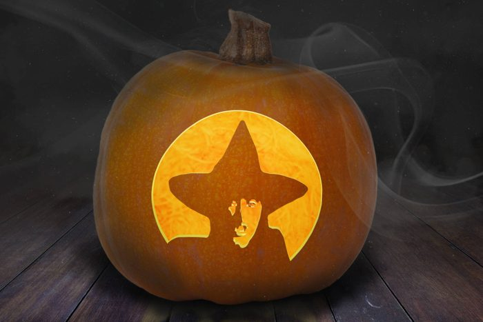 Witch Carved Pumpkin