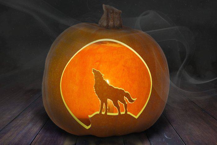Wolf Carved Pumpkin