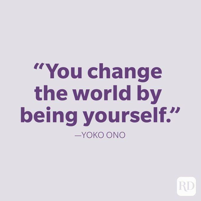 Yoko Ono Be Yourself Quote