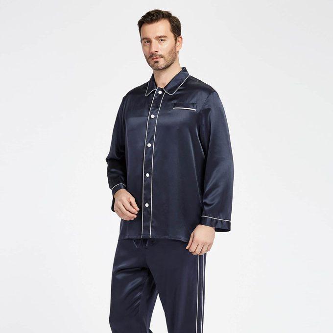 22 Momme Silke Pyjamas Med Dobbelte Ra Ekker Pipping 03