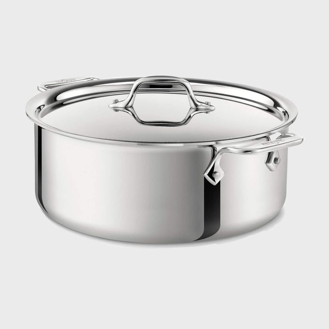 All Clad D3 Everyday Stainless Steel Tri Ply Stockpot With Lid
