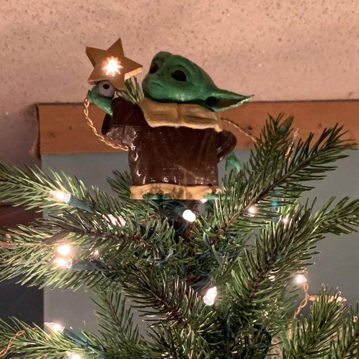 Baby Yoda Christmas Tree Topper Via Etsy