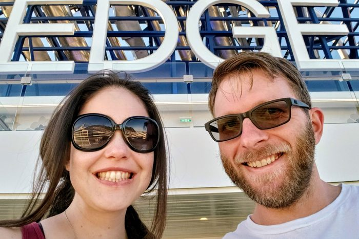 Billy Hirsch And Girlfriend Close Up On Celebrity Edge Cruise