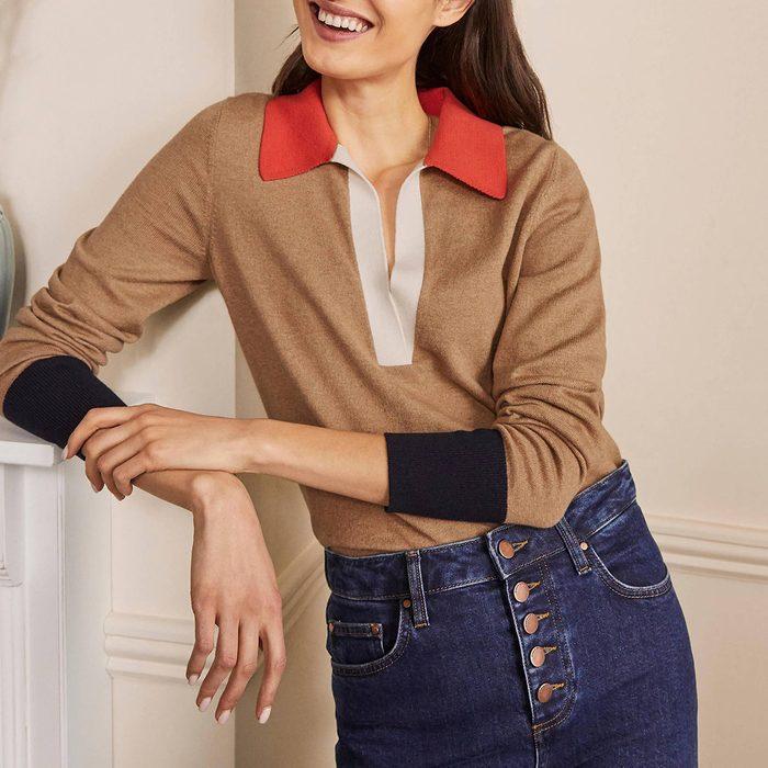Boden Collar Sweater