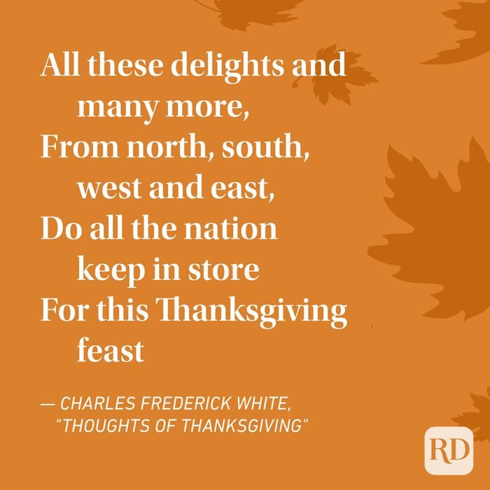 Charles Frederick White Thanksgiving Poems