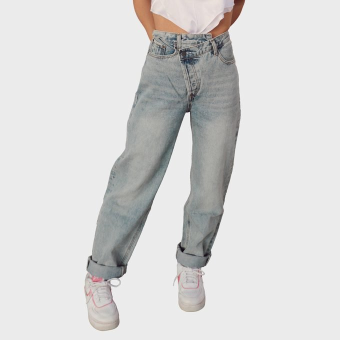 Colorful Natalie Cheyenne Asymmetrical Jeans