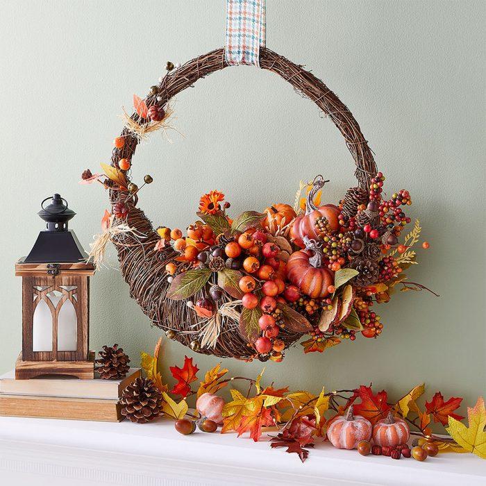 Cornucopia Grapevine Wreath