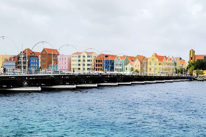view of multicolored buildings in Curacao, a Cruise Destination
