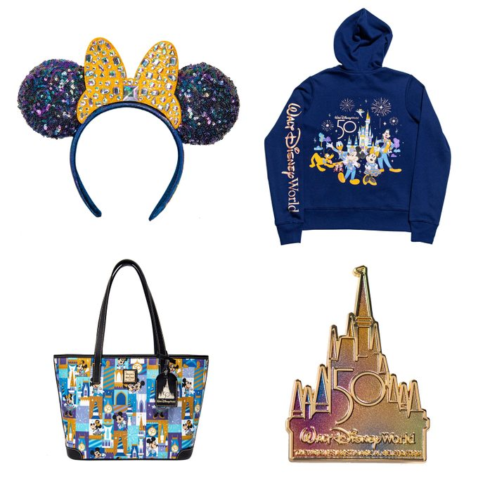 """The Celebration Collection is a new merchandise line that will launch as part of """"The World's Most Magical Celebration,"""" an 18-month extravaganza that begins Oct. 1 at Walt Disney World Resort in Lake Buena Vista, Fla."""