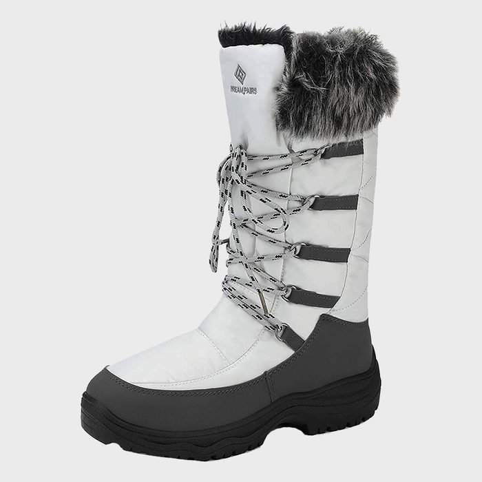 Dream Pairs Faux Fur Lined Mid Calf Winter Snow Boots