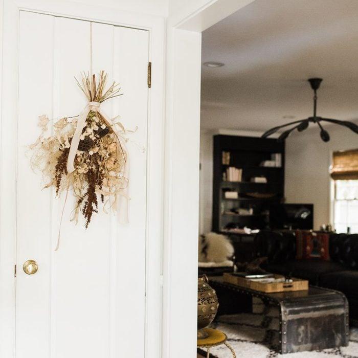 Dried Floral Door Decor