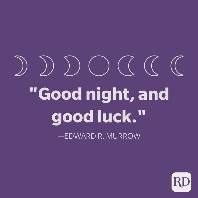 Edward R. Murrow Kutipan Selamat Malam