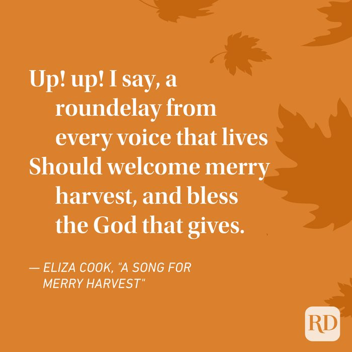 Eliza Cook Thanksgiving Poems