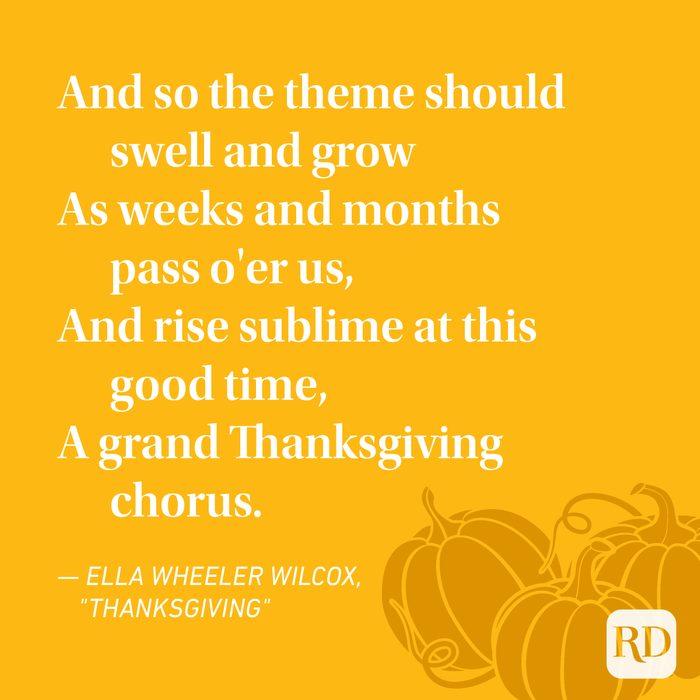 Ella Wheeler Wilcox Thanksgiving Poems