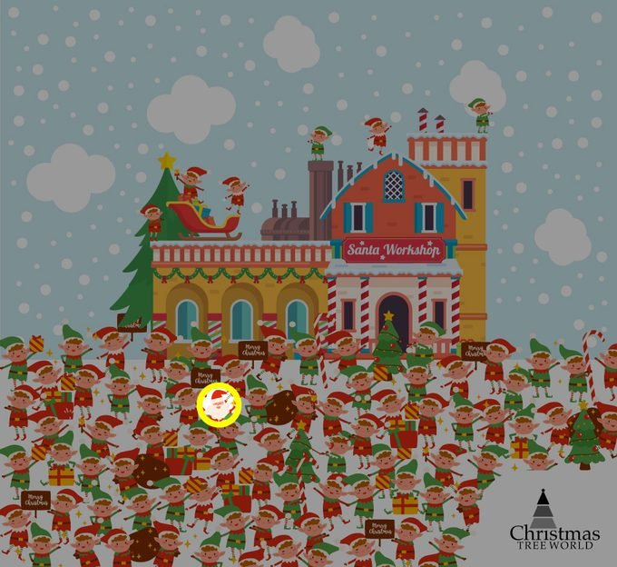 Find Santa Among The Elves Puzzle Answer