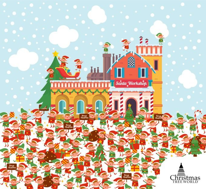 Find Santa Among The Elves Puzzle