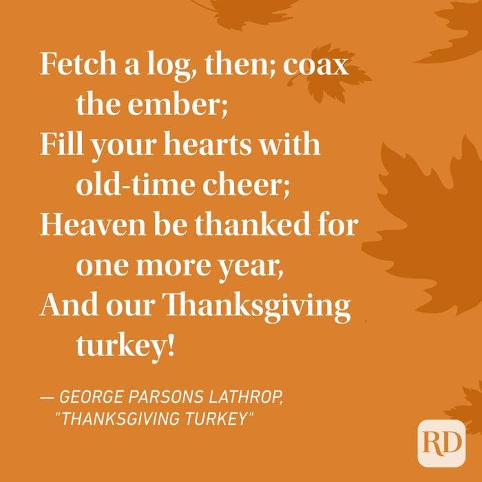 George Parsons Lathrop Thanksgiving Poems