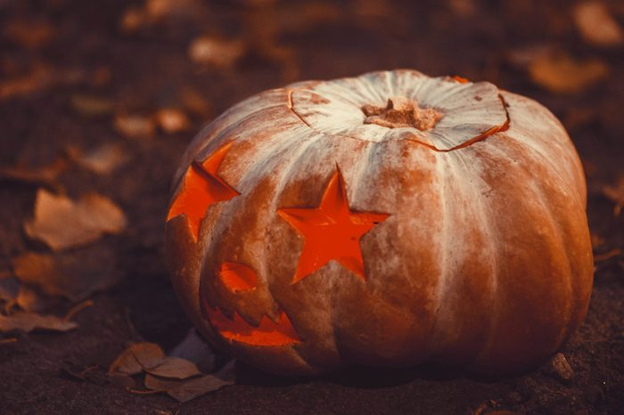 starry eyed carved pumpkin