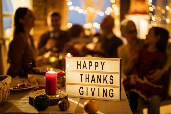 light up happy thanksgiving sign