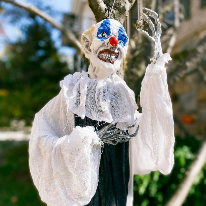 Spooky Halloween Decor Hanging from Tree