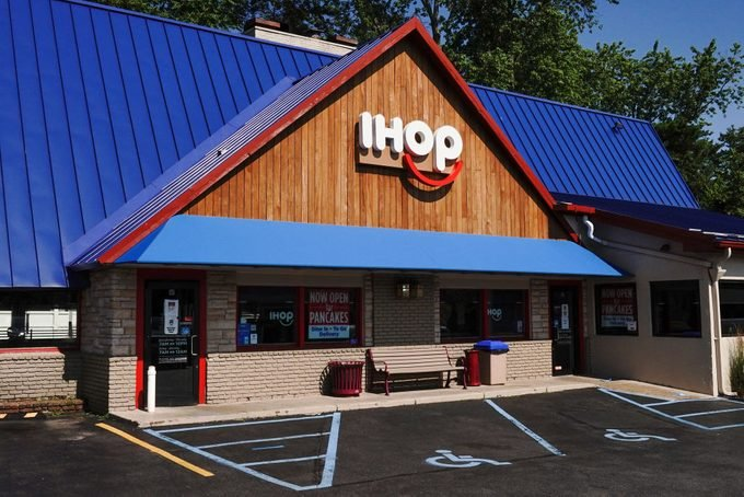 IHOP logo seen at one of their restaurants