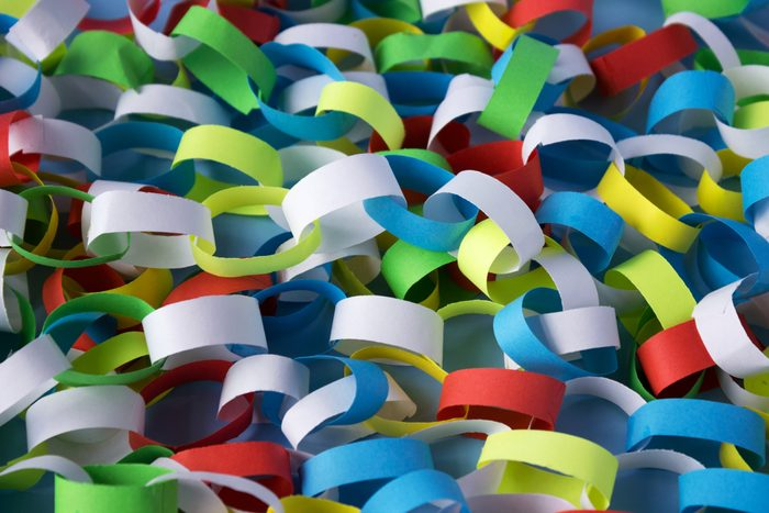 colorful paper chain garland