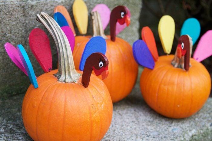 Turkey Pumpkin craft for thanksgiving