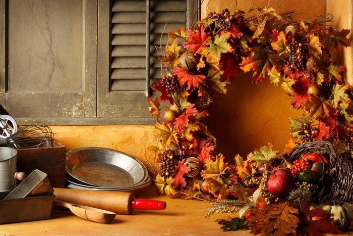 thanksgiving leaf wreath