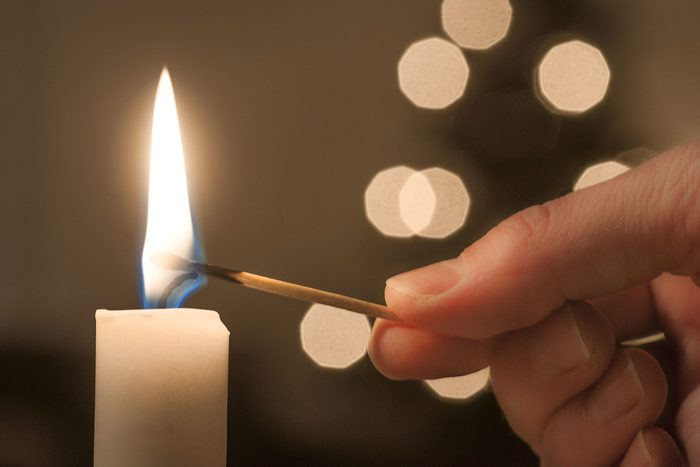 LIghting a candle stick