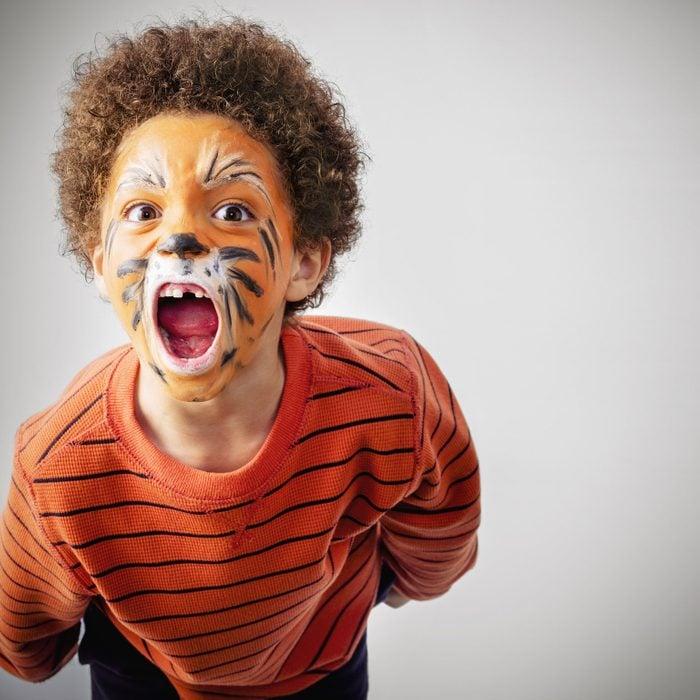 DIY tiger halloween costume
