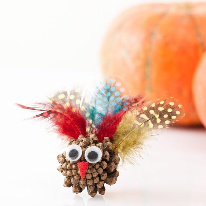 pinecone turkey craft for thanksgiving