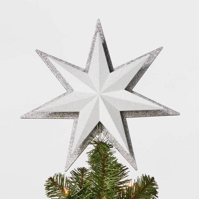 Glitter Star Christmas Tree Topper Via Target