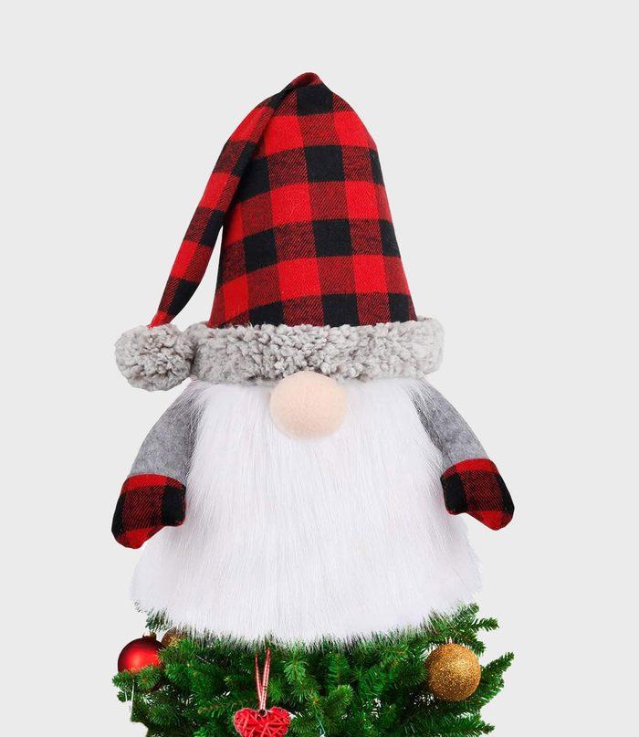 Gnome Christmas Tree Topper Via Amazon