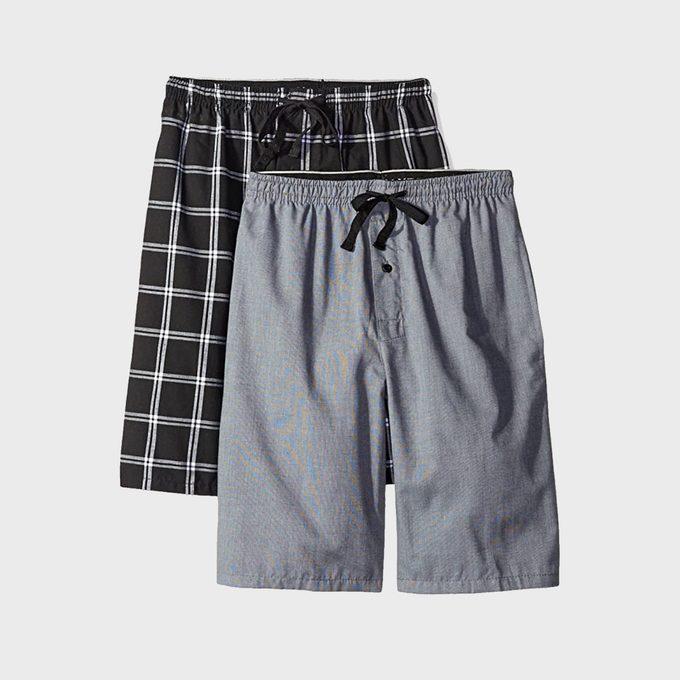 Hanes Men's 2 Pack Woven Pajama Short