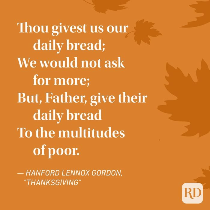 Hanford Lennox Gordon Thanksgiving Poems
