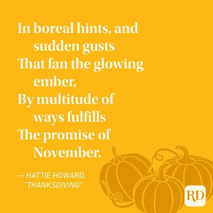 Hattie Howard Thanksgiving Poems