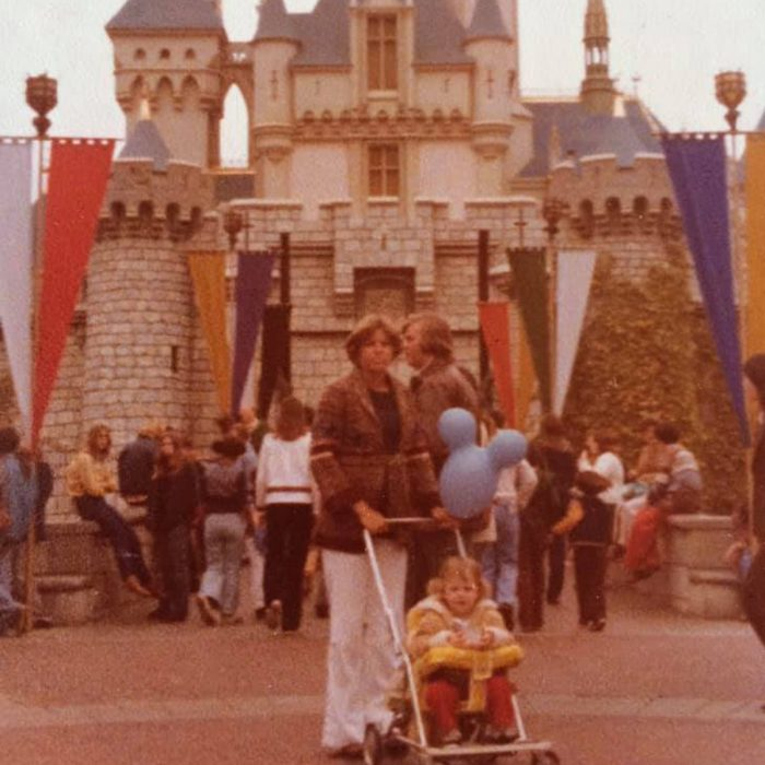 Heather Siever's first trip to disneyland at 2 years old