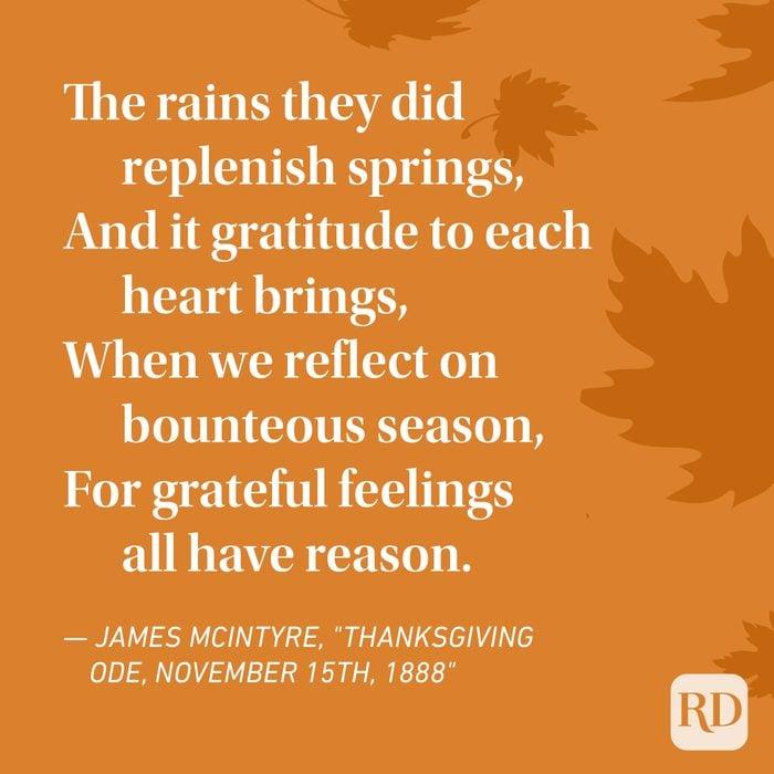 James Mcintyre Thanksgiving Poems