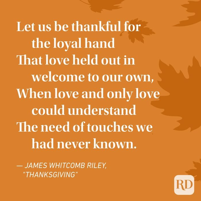 James Whitcomb Riley Thanksgiving Poems