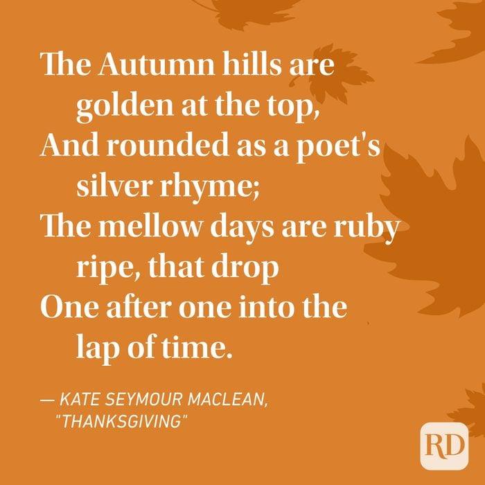 Kate Seymour Maclean Thanksgiving Poems