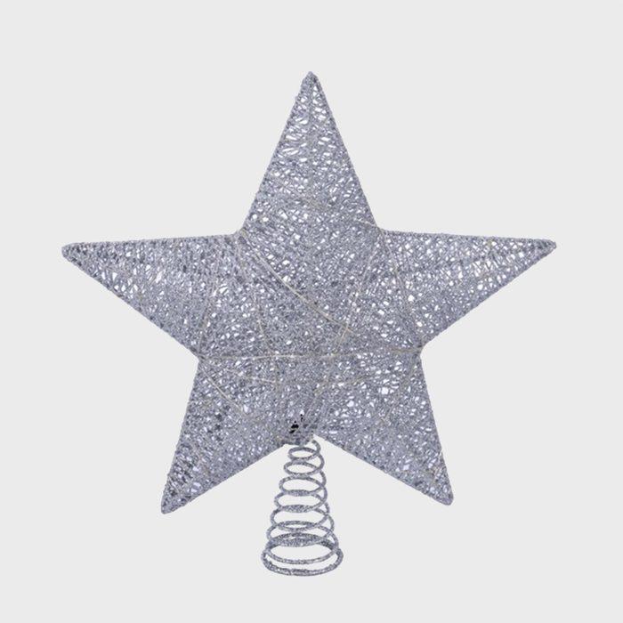 Led Silver Star Christmas Tree Topper Via Walmart