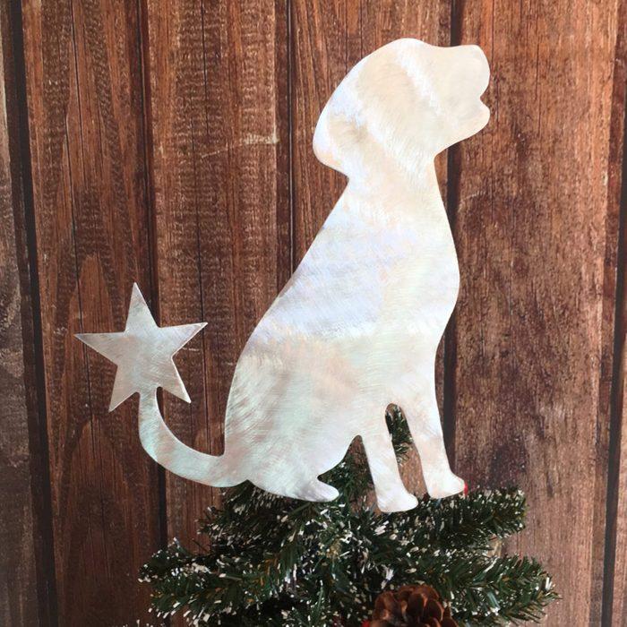 Labrador Retriever Christmas Tree Topper Via Etsy