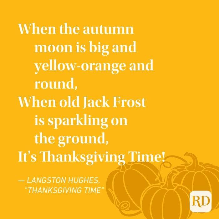 Langston Hughes Thanksgiving Poems