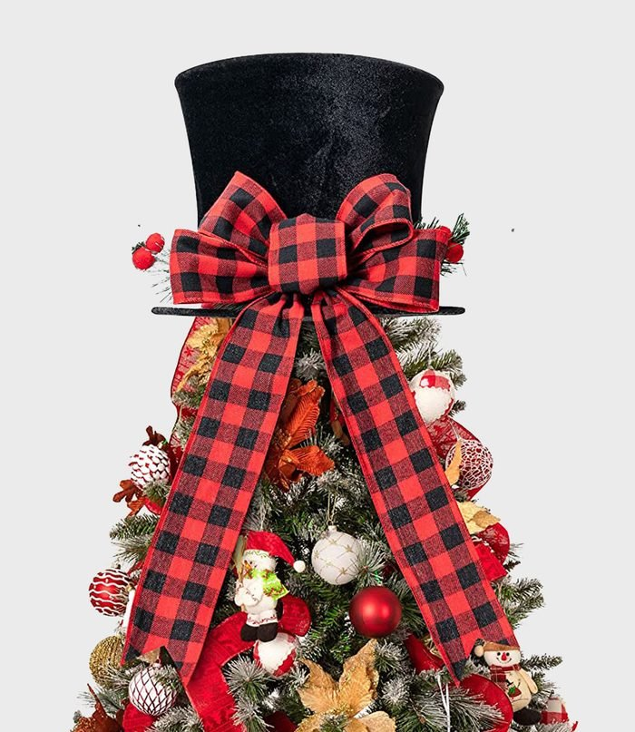 Large Black Hat Christmas Tree Topper Via Amazon