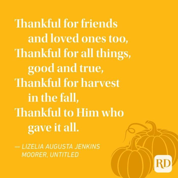 Lizelia Augusta Jenkins Moorer Thanksgiving Poems