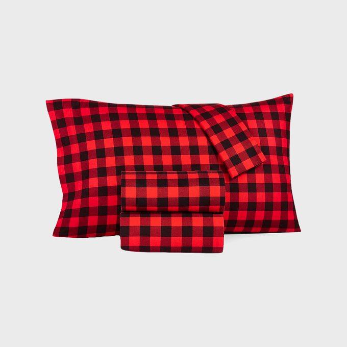 Martha Stewart Collection Printed Cotton Flannel Sheet Set