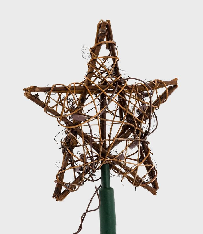 Natural Star Christmas Tree Topper Via Amazon