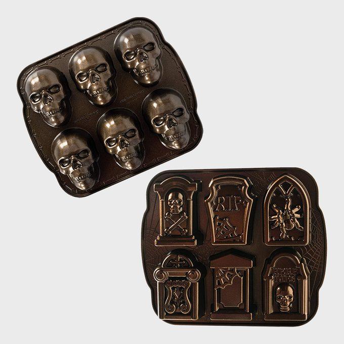 Nordic Ware Halloween Skull And Cakelet Pan