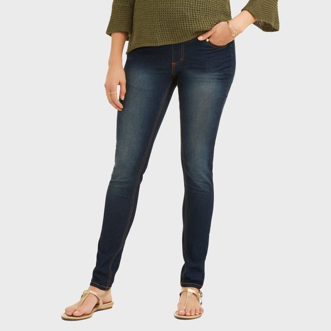Oh! Mamma Skinny Jeans With Full Panel