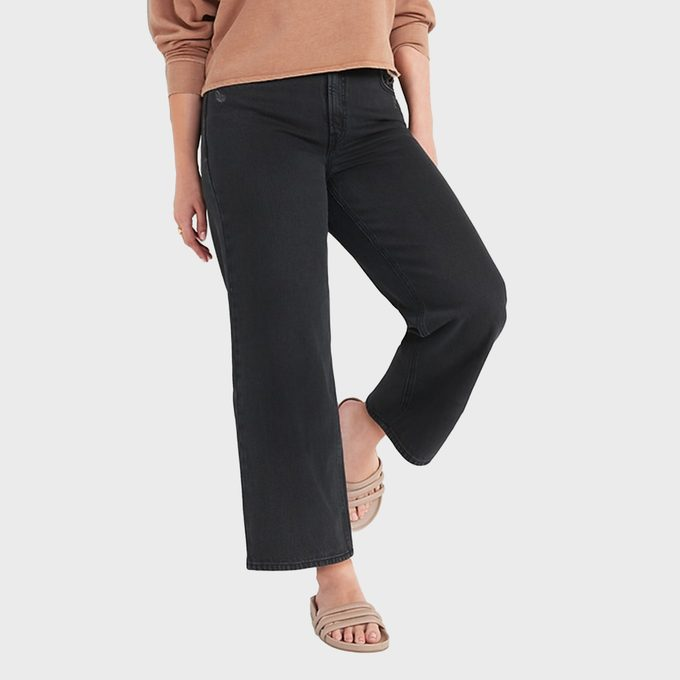 Old Navy Extra High Waisted Cropped Wide Leg Jeans